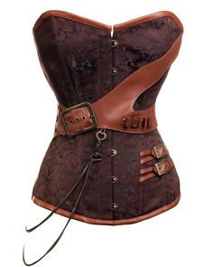 Brown Steampunk Overbust | 3 For 2 | Corsets (wow I wish that shape worked with my body. That's gorgeous!)