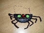 Spinlampion van een papieren bordje. Een mooi formaat voor een kleuter!