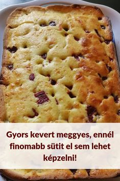 Kevert Meggyes Hungarian Desserts, Hungarian Recipes, Sweets Recipes, Baking Recipes, Good Food, Yummy Food, Best Food Ever, Sweet Cakes, Winter Food