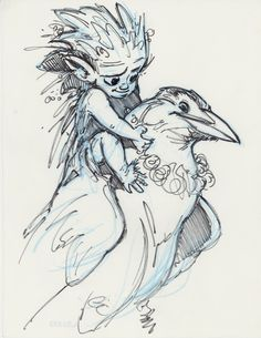 A blog displaying the concept art and character designs from various films along with wildlife and animal paintings of Aaron Blaise.