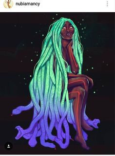 """regram """"Neon Medusa"""" illustrated by Nubiamancy is a horror fantasy and science fiction social media platform and soon-to-be film production company. Watch the video link at the top of the page to learn more. Black Girl Art, Black Women Art, Black Girls Rock, Black Girl Magic, Black Art, Art Girl, African Queen Tattoo, Medusa Art, Rainbow Aesthetic"""