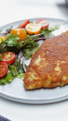 Parmesan crusted chicken, the old ones are the best! Kitchen Recipes, Cooking Recipes, Healthy Recipes, Crusted Chicken, Parmesan Crusted, Crispy Chicken, Deli Food, Good Food, Yummy Food