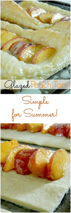 Glazed Peach Tart - with the help of frozen puff pastry this is so easy!