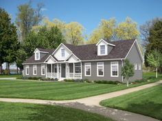 modular homes cost perfect modern prefab home design top middletown floor with Modular Home Cost, Modular Homes, Miller House, Style At Home, Pre Manufactured Homes, Modern Prefab Homes, Grey Houses, Castle House, Custom Built Homes