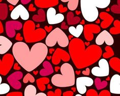 Vector seamless pattern with hearts | Vecto2000.com
