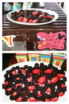 Mickey Mouse Party Ideas. I hope this   blogger doesn't mind but I'm going to rip this off of them for Eli's 1st   birthday!
