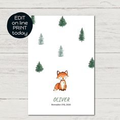 Watercolor Drawing, Watercolor Cards, Fuchs Baby, Dinosaur Party Invitations, Fox Illustration, Family Print, Woodland Animals, Baby Cards, Drawings
