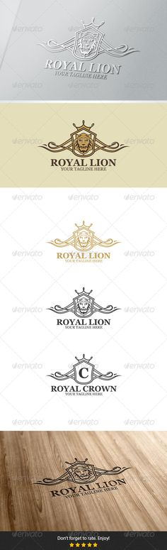 Royal Lion Logo — Vector EPS #government #royal blue • Available here → https://graphicriver.net/item/royal-lion-logo/5788402?ref=pxcr