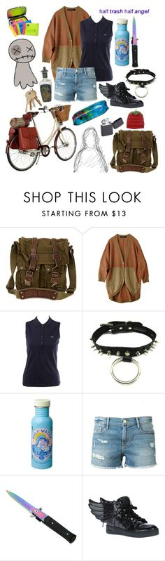 """""""."""" by the-mighty-fail ❤ liked on Polyvore featuring Spy Optic, Belstaff, Lacoste, Frame Denim and Equipment"""