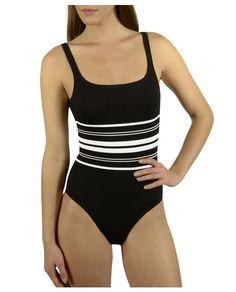 08508e637e Bañador de mujer Onades de rayas en blanco y negro Badeanzug, Bodysuit,  Bademode,