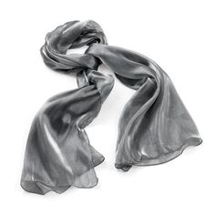 Large Silver Grey Metallic Look Sheer Fashion Neck Scarf Tie Head Wrap Navy Blue Scarf, Grey Scarf, Echo Scarves, Metallic Scarves, Chiffon Scarf, Gray Color, Colour, Cool Things To Buy, Silver