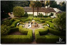 Allied Arts Guild Menlo Park Ca Their Beautiful Boxwoods And Fountain