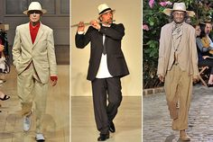 They popped up at Yohji Yamamoto, Ann Demeulemeester, and agnès b. Mens Attire, Materialistic, Yohji Yamamoto, Ny Times, Well Dressed, Male Models, Growing Up, Duster Coat, Runway