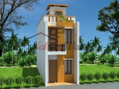 Double Storey House Can Be Two Types: Duplex Or Individual. 3D Front  Elevation Design ...