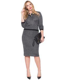 Lurex Column Skirt | Women's Plus Size Tops | ELOQUII