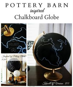 Curb Alert!: Global Decor {Chalkboard Painted Globe}