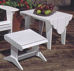 Adirondack Footstool and Side Table : Large-format Paper Woodworking Plan from WOOD Magazine
