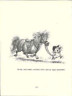 Thelwell's Original Vintage Pony Horse Mount Cartoon Print 1964 Comical