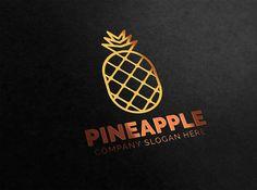 Pineapple Logo by eSSeGraphic on Creative Market Business Brochure, Business Card Logo, Business Names, Branding Design, Logo Design, Graphic Design, Site Website, Logo Restaurant, Creative Sketches