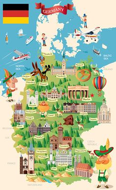 Germany travel Map