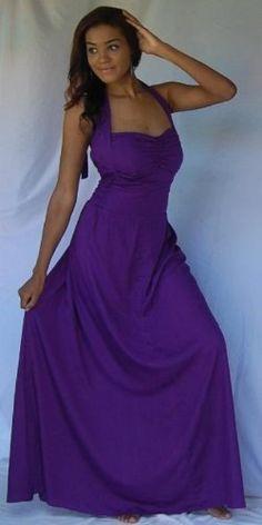 PURPLE DRESS MAXI HALTER – FITS – 3X 4X 5X – « Dress Adds Everyday