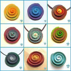 Kerstin Rupprecht - aka Claya - extruded clay, wrapped into spirals revealing inner contrasting colors. Cool.