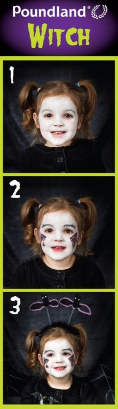Creating a Halloween costume doesn't have to break the bank, we have put together a step by step guide on how to create a Cute Witch face painting. Little Witches are a popular Halloween costume , this costume is one of the easiest and face paint can be done in minutes!