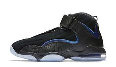 47d7d236096129 New Nike Men s Air Penny IV 4 Hardaway Shoes (864018-001) Black Dark Neon  Royal