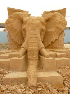 The Big Five Elephant Sand Sculpture Festival Brighton Aug 2014 | Flickr - Photo Sharing!