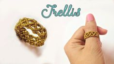 How to macrame a ring with the basic trellis pattern - Step by step tuto. Macrame , How to macrame a ring with the basic trellis pattern - Step by step tuto. How to macrame a ring with the basic trellis pattern - Step by step tuto. Macrame Rings, Macrame Bracelet Tutorial, Macrame Knots, Macrame Bracelets, Diy Rings Tutorial, Beads Tutorial, Crochet Rings, Diy Bracelets Easy, Micro Macramé