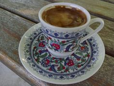 Türk kahvesi Tea Cups, Tableware, Dinnerware, Tablewares, Dishes, Place Settings, Cup Of Tea