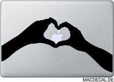Kennt Ihr unseren Macbook Sticker Heart schon? Bekannt aus der Apple TV Werbung!  http://www.macdecal.de/macbook-sticker-love/macbook-sticker-aufkleber-heart.html