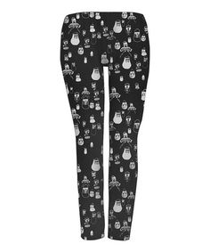 Black Sacre Bleu Leggings - Toddler & Girls by Mini & Maximus #zulily #zulilyfinds $24.99