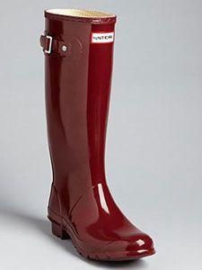 BURGUNDY Hunter-Rain-Boots <3