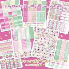 NEW!!! DIY May Printable Planner Stickers Monthly Kit 700+ Stickers pdf and 7 jpeg Erin Condren Life Planner Kikkik Filofax