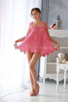 Cute Girl Dresses, Cute Girl Outfits, Girly Outfits, Sexy Outfits, Sexy Dresses, Short Dresses, Crochet Summer Dresses, Summer Dress Patterns, Preteen Girls Fashion