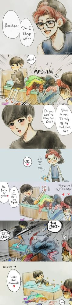 La historia de mi hermana jajajajaja Baekyeol haha (see logo on pict for the credit, i own nothing)