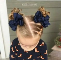Girl's Two Pigtails.