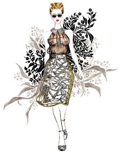 Honor Spring 2013 RTW #fashion #illustration #fashionillustration