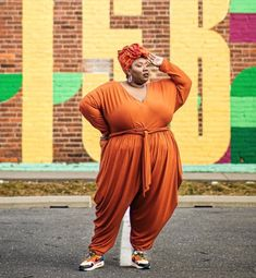 She says she's not a model but whenever she poses, she's coming through blazing! (@missjae1908) Sneaker Outfits, Streetwear Fashion, Plus Size Women, Plus Size Fashion, Jumpsuits, Street Wear, Fashion Looks, Sneakers Nike, Poses