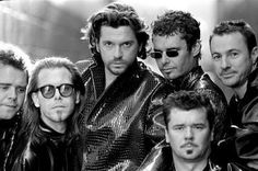 looking so spiffy - INXS - Andrew Farriss, Kirk Pengilly, Michael Hutchence, Jon Farriss, Garry Gary Beers & Tim Farriss