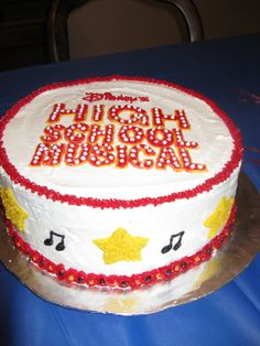 High School Musical - This is the view of the sides of the cake.