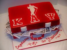 Kappa Alpha Psi Briefcase - Tailor Made Cakes by Celena