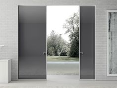 Crystal pocket sliding door LESS MOVI ITALIA
