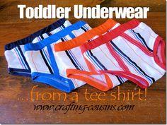 Toddler Underwear from a Tee Shirt