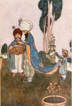 Edmund Dulac, 1908. Housman's Stories from the Arabian Nights  Formatting and text by George P. Landow