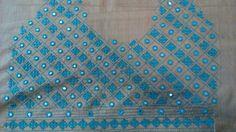 Hand Work Blouse Design, Blouse Designs Silk, Kurti Neck Designs, Dress Neck Designs, Hand Embroidery Dress, Indian Embroidery, Hand Embroidery Designs, Kutch Work Designs, Crazy Patchwork