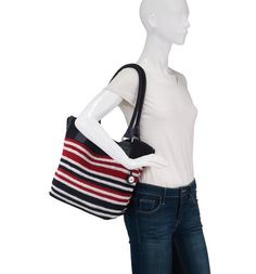 Wear your red, white, and blue! Our favorite summer crochet tote, the Cambria large tote in anthem stripe fits all your necessities for a day out and about