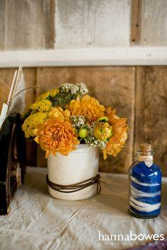 sisters floral design studio: Rustic Wedding Flowers