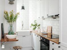 DOLNY MOKOTÓW - Mała kuchnia, styl skandynawski - zdjęcie od PINKMARTINI